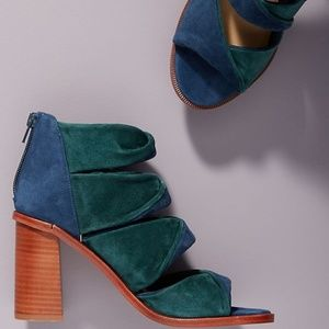 NIB M4D3 Free People Crawley Suede heel